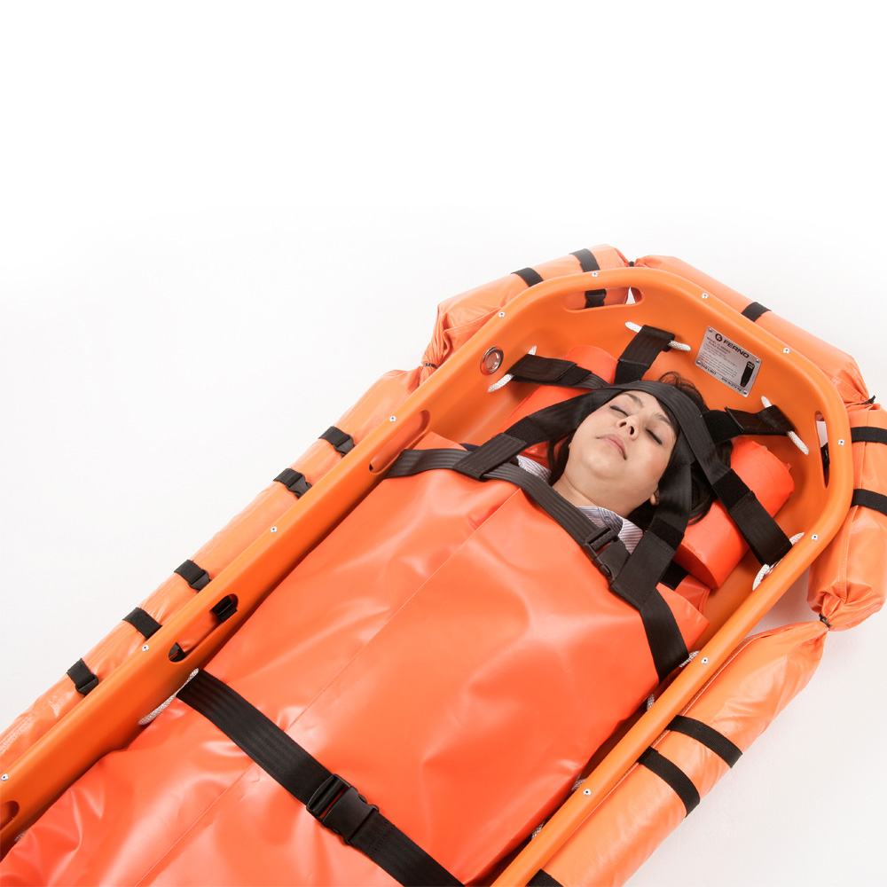 Ferno-Model-71-Basket-Stretcher-with Flotation-collar-and-headpad-and-harness