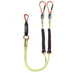 Heightec-Elite-twin-lanyard-1.7m-steplock,-double-clip-for-overhead-lines